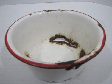 Enamel Pot Rusty with Holes #070916