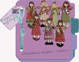 Christmas Angels - rub ons