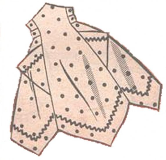 Vintage Apron 50s One Yard Fabric PDF Pattern No 3 Available in M-L-XL