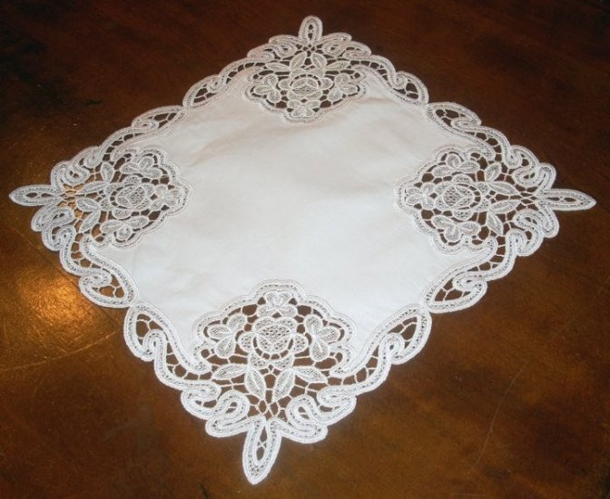 Rosanna Angle Doily Freestanding Lace 6x10 Machine Embroidery