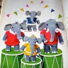 Vintage Elephant Family Knit Pattern