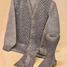 Vintage Knit Pattern 50s for Men Cardigan and Sock Woodbine on PDF