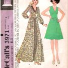 Vintage pattern McCall's 3971 Woman Dress Pattern 70s Size 8