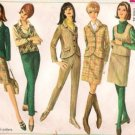 VIntage Pattern Simplicity 6636 Jacket Pant Top Skirt 60s Size 10