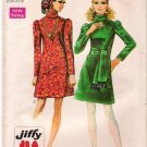 Vintage Simplicity 8389 Pattern 60s Miss Dress Size 8