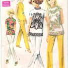Vintage pattern Simplicity 8000 Misses Blouse and Stove-Pipe Pants 60s Size 14