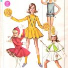 Vintage Simplicity Pattern Girls Cheerleader Majorette and Skating Costume 60s Size 10
