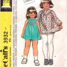 Vintage McCalls Pattern 3932 Toddlers Dress and Panties 70s Size 4 UNCUT