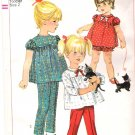 Vintage Pattern Simplicity 6858 Child-Toddler Top and Pants 60s Size 2