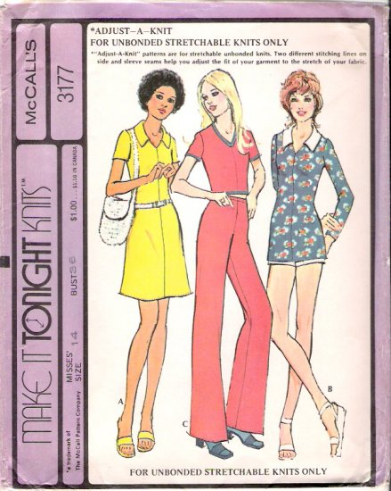 Vintage Pattern McCalls 3177 Miss Separates for Stretch Knit 70s Size 14 UNCUT