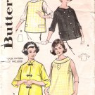 Vintage Pattern Butterick 9448 Miss Maternity Tops 60s Size 12