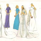 Vintage Pattern Style 3433 Miss Wedding Dress with Train 70s Size 12