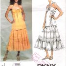 Pattern Vogue 2901 American Designer Donna Karan Top and Skirt Size 12