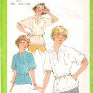 Vintage Pattern Simplicity 8340 Miss Blouse 70s Size 10-12