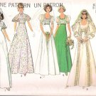 Vintage Pattern Simplicity 6940 Miss Bridal- Bridemaid or Prom Dress 70s Size 14