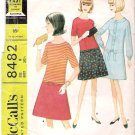 Vintage Pattern McCalls 8482 Long Waisted Dress 60s Size Jr 9