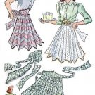 Vintage Half Apron 40's PDF Pattern No 21 Available in M-L-XL