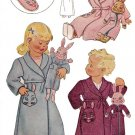 Vintage Child Robe-Slippers and Bunny Toy 40's Repro on Printable PDF Size 4