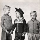 Vintage Knit Pattern 50s Cowboy Jacket for Boy sizes 2-12 years on PDF