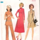 Vintage Pattern Style 2837 Misses' Dress in two lengths and Pants 70s Size 9jp