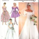 Pattern Simplicity 8413 Misses's Brides' and Bridesmaids' Dresses 90s Size 10 UNCUT