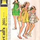 Vintage Pattern McCall's 3601 Girl Dress 70s Size 8
