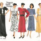 Vintage Pattern Vogue 1534 Miss Dress 80s Size 8