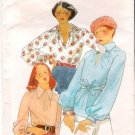 Vintage Pattern Butterick 4327 Misses Blouse and Belt 70s Size 16 B38