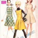 Vintage Pattern Simplicity 7819 Jr Teen Jumper and Dress 60s Size 11 B31.5