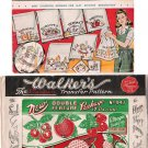 Vintage Patterns Vogart 127 and Walker's 947 Kitchen Embroidery Transfer 40s
