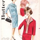 Vintage Pattern Butterick 2178 Misses' Three-Pieces Skirt, Top and Jacket 60s Size 14 B34