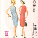 Vintage Pattern McCall's 6809 Misses Dress 60s Size 10 B31