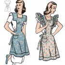 Vintage Full Apron Pattern No 31 Repro 40s on PDF Available in Size S - M - L - X-L