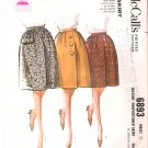 Vintage Pattern McCall's 6893 Proportioned Skirt 60s Size Waist 25