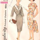 Vintage Pattern Simplicity 3319 Misses' Dress and Jacket with Detachable Collar 60s Size 12 B32