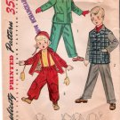 Vintage Pattern Simplicity 4026 Child's Snowsuit - Jacket - Slacks and Helmet 50s Size 2