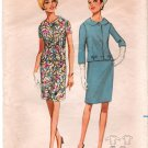 Vintage Pattern Butterick 4315 Jacket and straight Skirt 60s Plus Size 20.5 B41