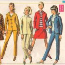 Vintage Pattern Simplicity 7446 Misses' Jacket, Skirt and Pants 60s Size 12 B34