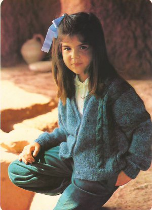 Knit Pattern Girl Jacket No 2 Size 7 in 2 Languages Printable on PDF 80s