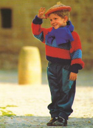 Knit Pattern Boy Pullover No 3 Size 4 in 2 Languages Printable on PDF 80s