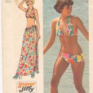 Vintage Pattern Simplicity 5644 Bikini and Wrap Skirt 70s Size 14 B34-36