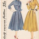 Vintage Pattern Simplicity 3687 Day Dress with Neck Variation 50s Size 11 B29