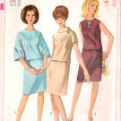 Vintage Pattern Simplicity 6672 Two-Piece Dress 60s Size 12 B32