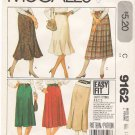 Vintage Pattern McCall's 9162 Skirt Variations 80s Size 12 Waist 26.5