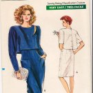 Vintage Pattern Vogue 7270 Misses' Dress 80s Size 6-10 UNCUT