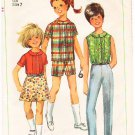 Vintage Pattern Simplicity 7044 Girls' Pants in Two Lengths, Blouse and Skirt 60s Size 7