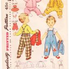Vintage Pattern Simplicity 4417 Toddler's Overalls, Jacket and Hat 50s Size 3