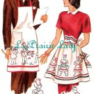 Vintage Mr and Mrs Apron 40's PDF Pattern No 30 Available in MED and LG