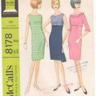 Vintage Pattern McCall's 8178 High Waistline and Sheath Dress 60s Size 12 B32