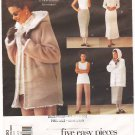 Vintage Pattern Vogue 2220 Wardrobe Five Easy Pieces 90s Size 8-12 UNCUT